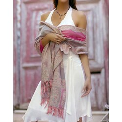 Spring Romance Wool Shawl (India)