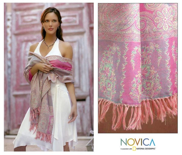 Spring Romance Wool Shawl (India)