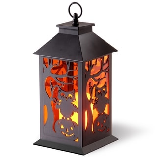 """12"""" Halloween Lantern with Candle"""
