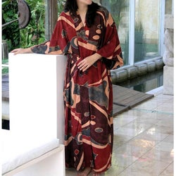 Women's Coral Reefs Batik Robe (Indonesia)