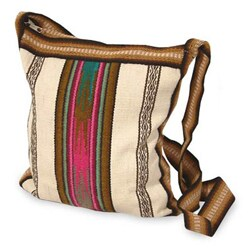Multi Color Wool Shoulder Bag (Peru)