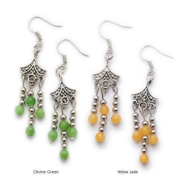 Tibet Silver Rain Drop Design Earrings (China)