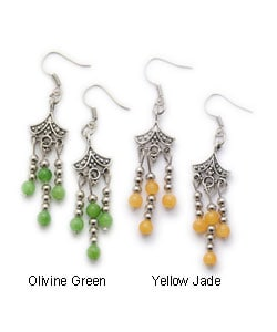Tibet Silver Rain Drop Design Earrings (China)