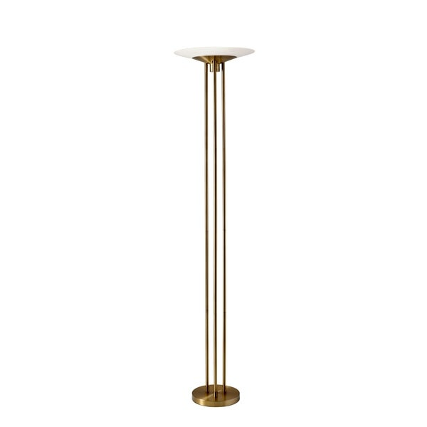 Adesso Newton Antique Brass Torchiere LED Torchiere