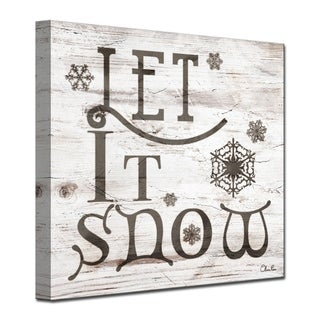 Olivia Rose 'Christmas Let It Snow' Wrapped Canvas Textual Wall Art