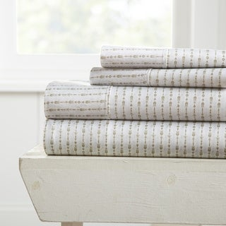 Merit Linens Premium Ultra Soft Beaded Arrows Pattern 4 Piece Bed Sheet Set