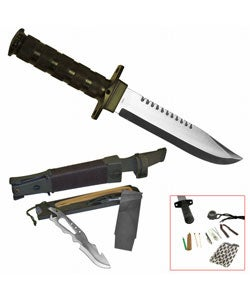 Military-style Survival Kit Knife with Sheath