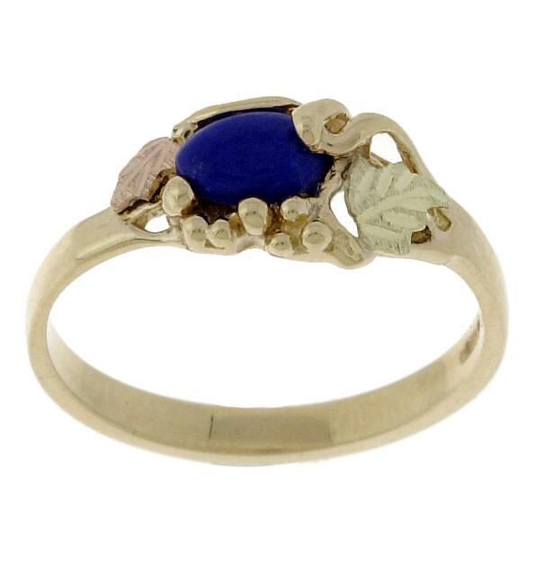 Black Hills Gold and Lapis Lazuli Ring