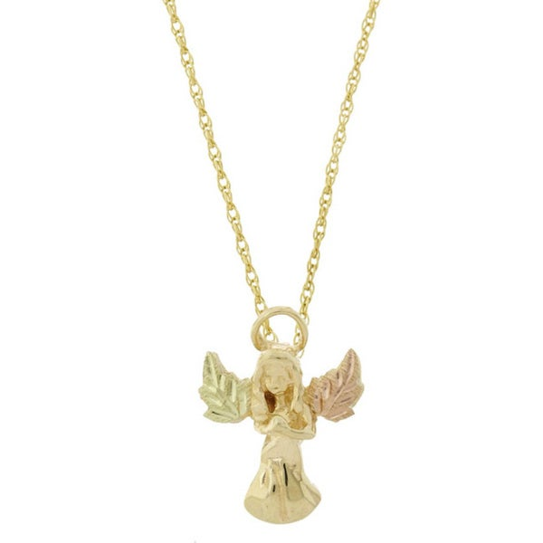 Black Hills Gold Guardian Angel Necklace