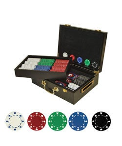 500 Multicolored Poker Chips in Case