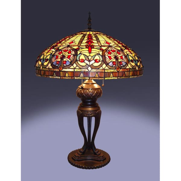 tiffany style emperor table lamp 10554895 shopping. Black Bedroom Furniture Sets. Home Design Ideas