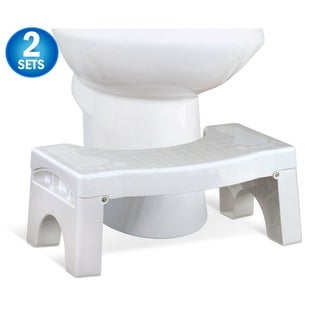 "2 Squat N Drop Folding Squatting Bathroom Toilet Potty Stool Step 7"" Collapsible Footstool"
