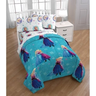 Disney Frozen Swirl Reversible Twin Comforter