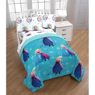 Disney Frozen Swirl 4 Piece Twin Bed Set