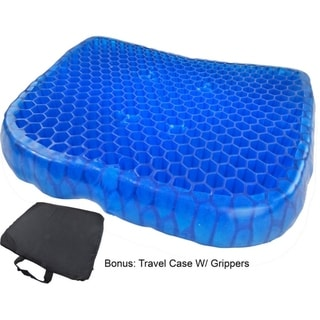 Egg Honeycomb Gel Seat Cushion Cooling Flexible Support W/ Non-Slip Breathable Cover