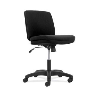 HON Network Low-Back Task Chair- Armless Computer Chair for Office Desk, Black Fabric (HONVL281Z1VA10T)