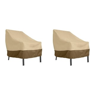 Classic Accessories Veranda Water-Resistant 38 Inch Patio Lounge Chair Cover, 2 Pack