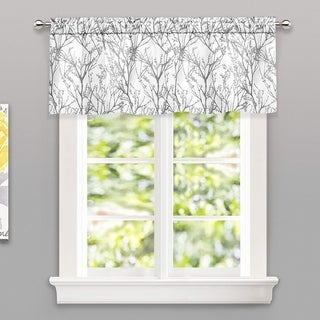 Porch & Den Pagosa Tree Branch Lined Window Valance