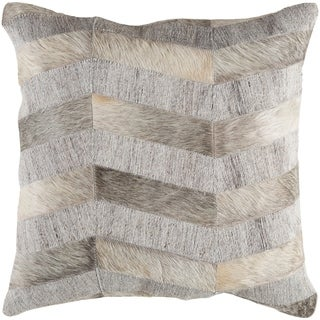 Decorative Schley Grey 18-inch Throw Pillow Cover