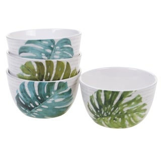 Certified International Palm Leaves 5.25-inch Ice Cream Bowls (Set of 4)