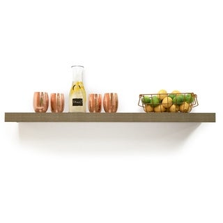 InPlace 60-inch Grey Oak Floating Shelf