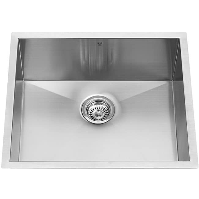23-inch Undermount Stainless Steel 16 Gauge Single Bowl Kitchen Sink ...