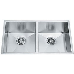 VIGO 32-inch Undermount Stainless Steel 16 Gauge Double Bowl Kitchen Sink