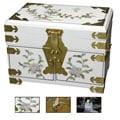 Handmade Daisy Mirrored Jewelry Box (China)