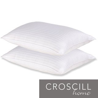 Croscill Cotton Stripe Bed Pillows (Set of 2)