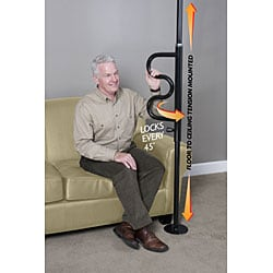 Standers Security Pole and Curve Grab Bar
