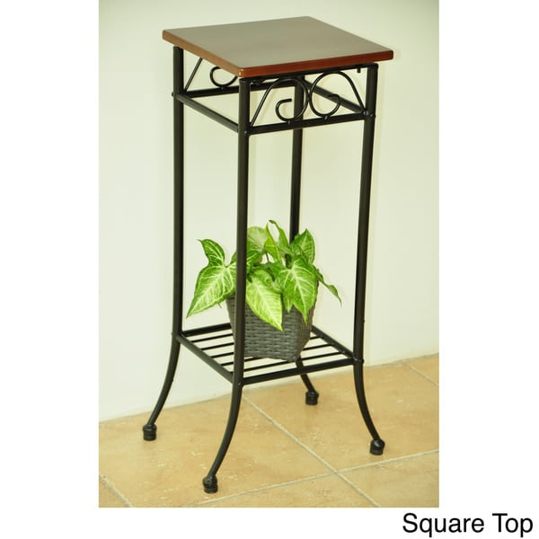 International Caravan Iron & Wood Plantstand