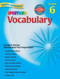 Spectrum Vocabulary: Grade 6 (Paperback)