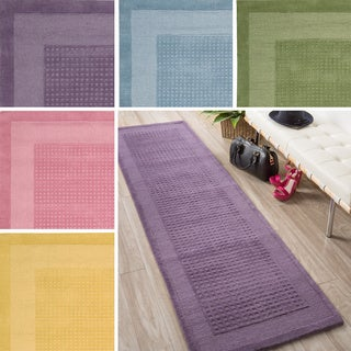 Nourison Hand-tufted Westport Contemporary Wool Runner Rug (2'3 x 7'6)