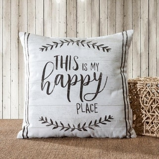 Farmhouse Vintage Quotes / Animal Decorative Pillow Cover