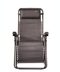 Lounge Lizard Black Folding Travel Chair