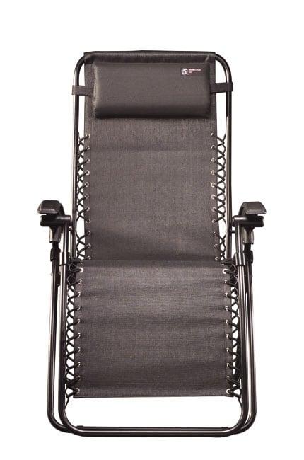 TravelChair Lounge Lizard Black Folding Recliner Chair
