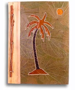Hand-crafted Palm Tree Design Rayon from Bamboo/Leaves Photo Album , Handmade in , Handmade in , Han