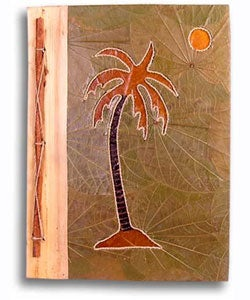 Hand-crafted Palm Tree Design Bamboo/Leaves Photo Album (Indonesia)