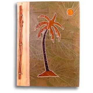Handmade Palm Tree Design Bamboo/ Leaves Photo Album (Indonesia)