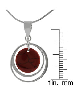 Journee Collection Sterling Silver Red Coral Necklace