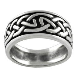 Tressa Sterling Silver Celtic Pattern Ring
