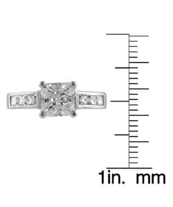Tressa Collection Sterling Silver CZ Bridal Princess Engagement Ring