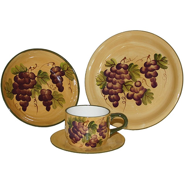 Sonoma Collection Hand painted 16 piece Dinnerware Set