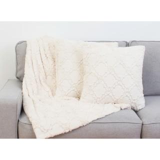 Set of 2 Mia Lattice Pillows & Decorative Throw Set