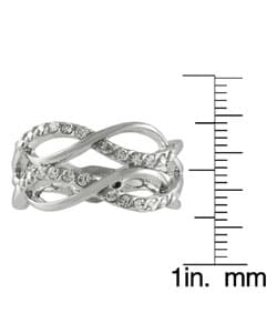Tressa Sterling Silver Wavy Fashion Ring