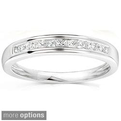 Annello 14k Gold 1/4ct TDW Princess Diamond Wedding Band (H-I, I1-I2)