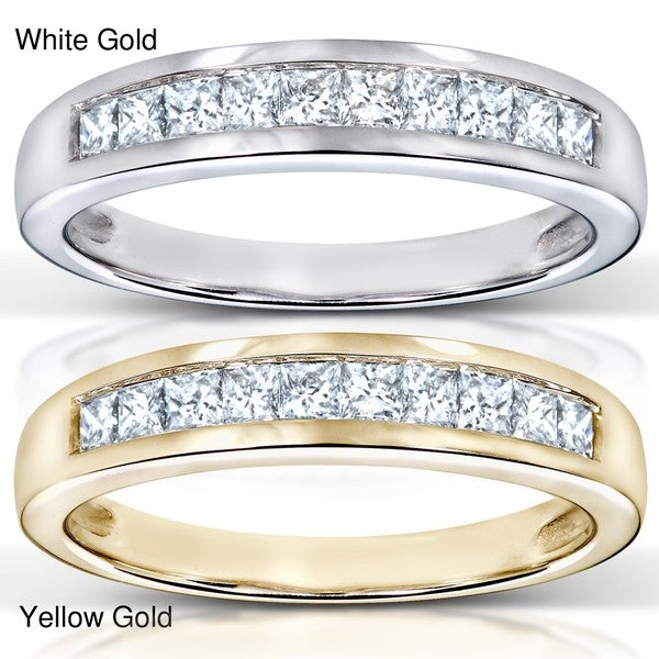 Annello 14k Gold 1/3ct TDW Diamond Semi-eternity Band (H-I, I1)