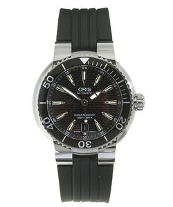 Oris Men's 73375338454RS Black Dial Automatic Diver Watch