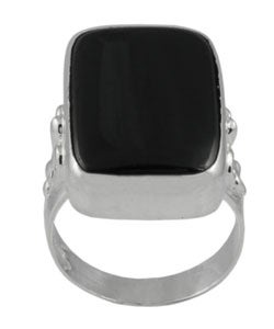 Tressa Sterling Silver Black Onyx Fashion Ring