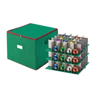 Tim Totes Christmas Ornament Storage Holds 75 Balls w/ Dividers